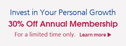 Annual Membership 30% Off