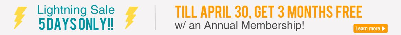 Annual Membership - Get 3 Months Free