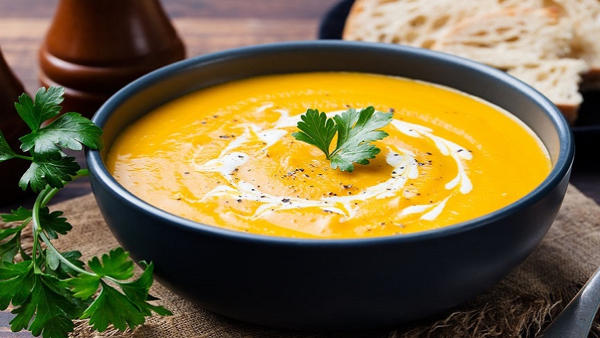 Grounding Coconut Curry Pumpkin Soup