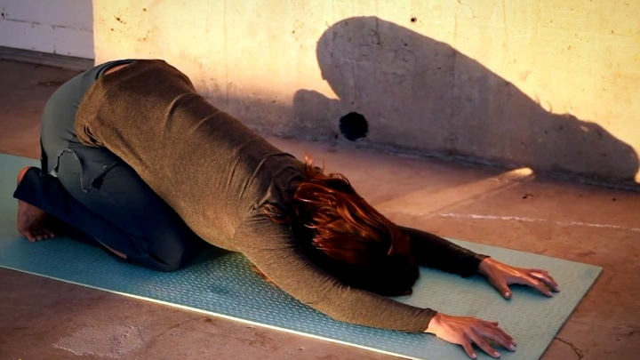 Release Neck Tension with Bending Lion Pose