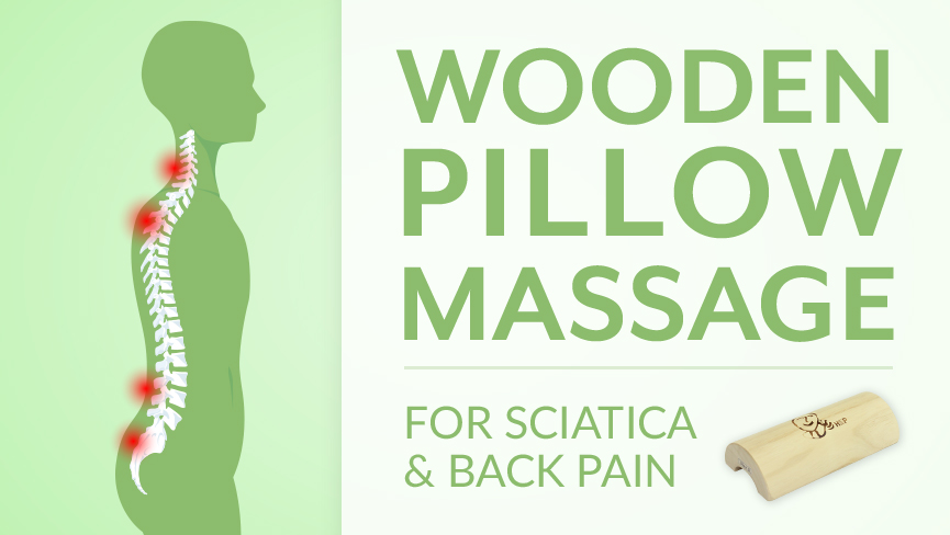 Wooden Pillow Home Massage for Back Pain with Sciatica