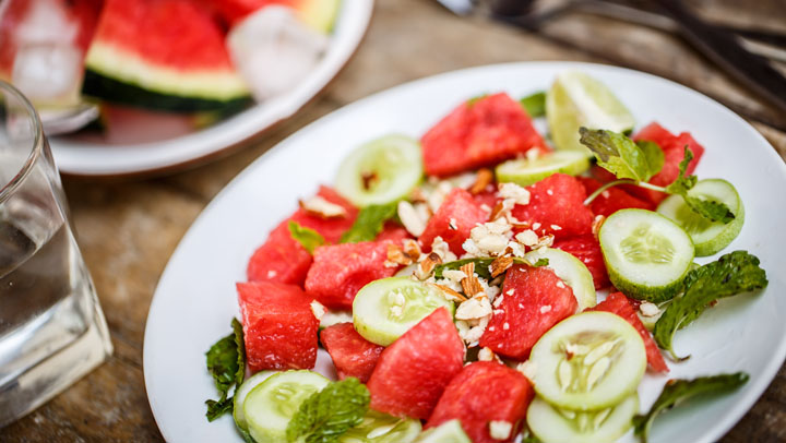 Flush Toxins Hydrate with this Refreshing Watermelon Salad