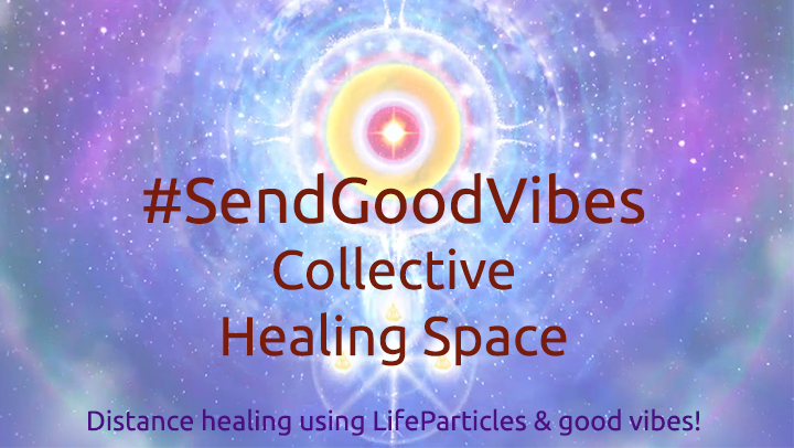 SendGoodVibes Collective Healing Space on Twitter and Facebook