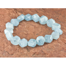 Aquamarine Bracelet - Nugget (10mm beads)