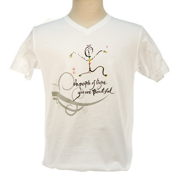 Ilchi Calligraphy T-shirt (Chakra Light Being)