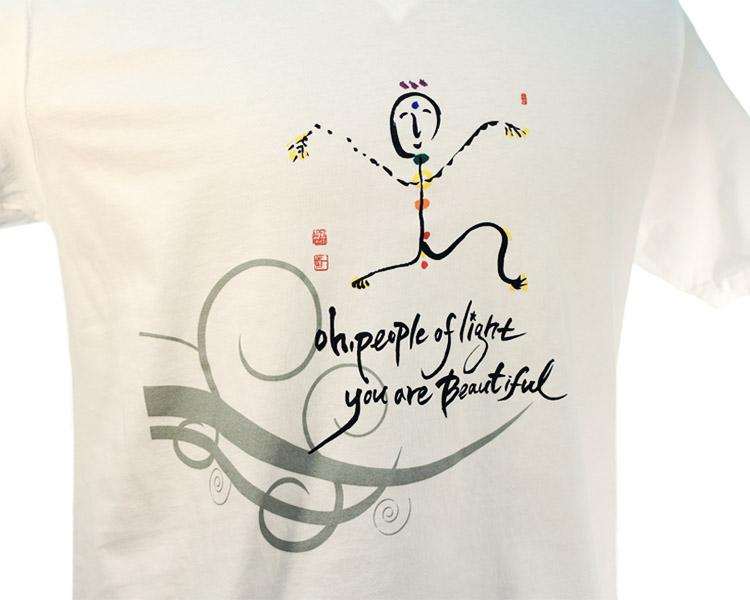 Ilchi Calligraphy Tshirt Chakra Light Being