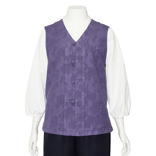 Pintuck Violet Vest Womens