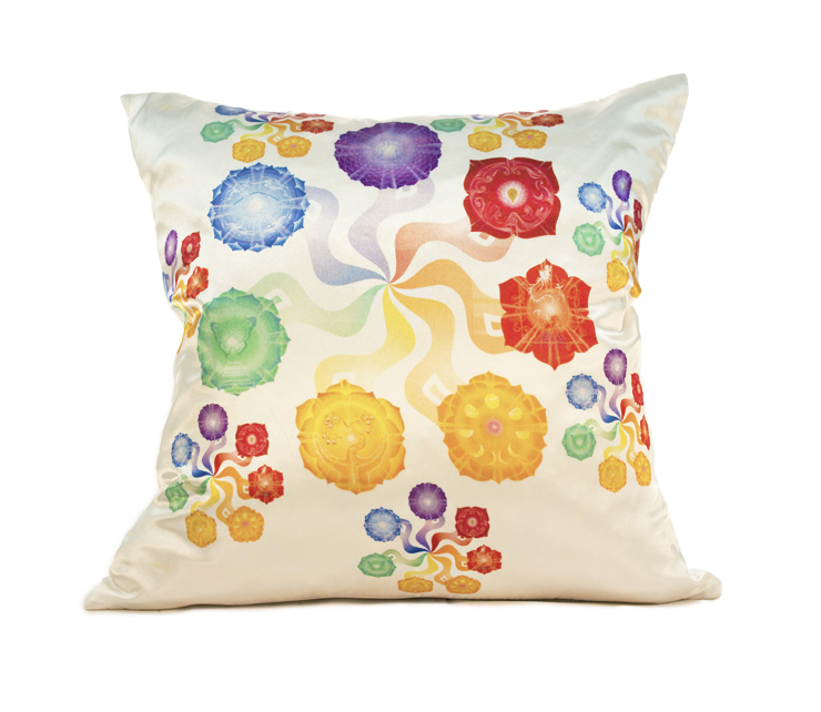 Pinwheel Chakras Pillow Cover