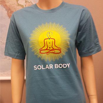 Solar Body T-Shirt, 100% Organic (Aquamarine, Roundneck)
