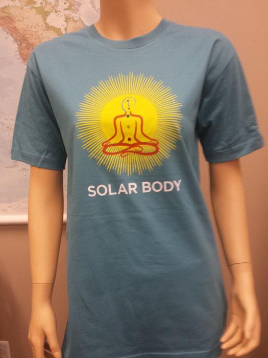 Solar Body TShirt 100 Organic Aquamarine Roundneck