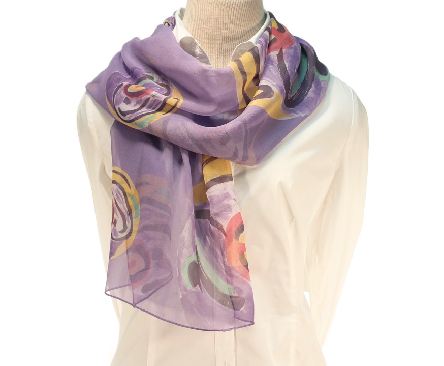 Oneness Calligraphy Scarf 100 Silk