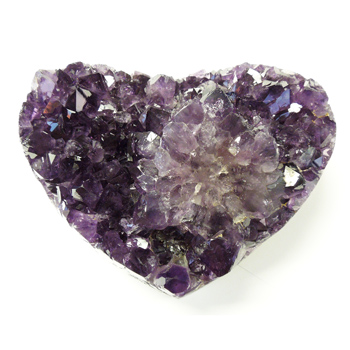 Heart-Shaped Amethyst Geode Cluster (1.8 lbs)