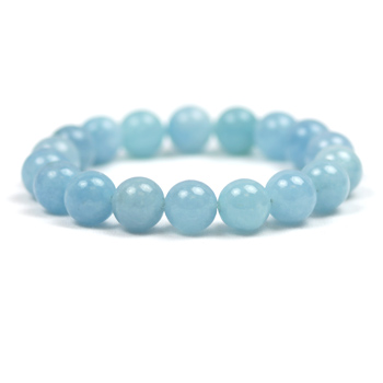 Aquamarine Bracelet - 10mm Round Bead