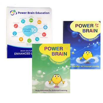 Power Brain Certification Level 1 Materials (Teachers Manual, Student Workbook, BE Binder)