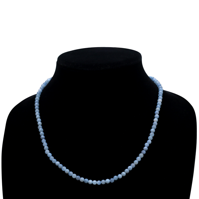 Aquamarine Necklace round shape