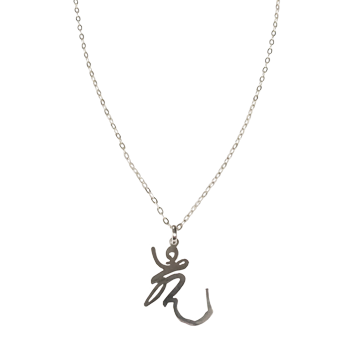 "Qi Energy Sterling Silver Necklace (26"" chain)"