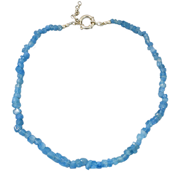Aquamarine Necklace (Large Chip)