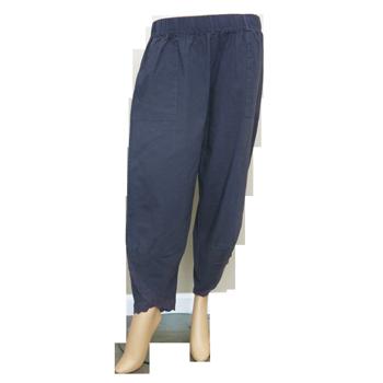 Cropped Lace Print Yoga Pants