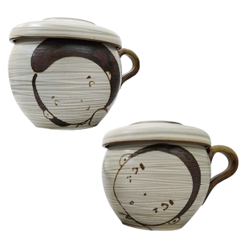 Smile Couple Teacups (Small & Tall)
