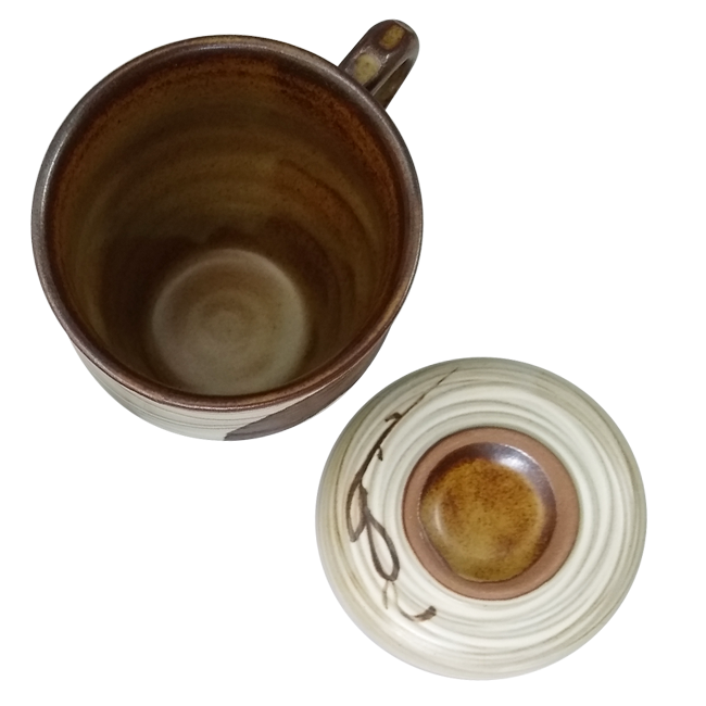 Smile Couple Teacups Small Tall