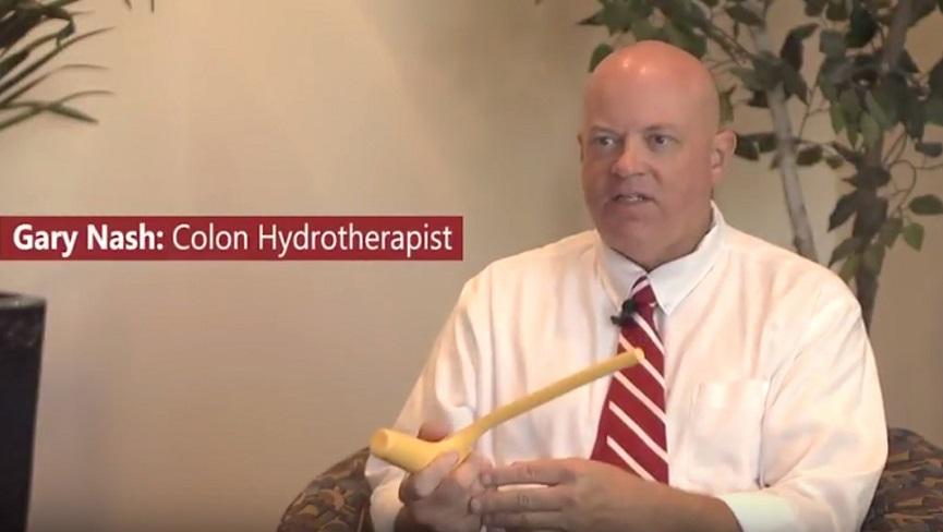 Gary Nash Colon Hydrotherapist Releases Toxins w/ Belly Button Healing Acupressure
