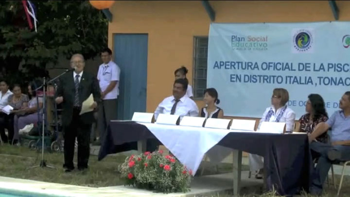Completion Ceremony: Swimming Pool for Peace in El Salvador