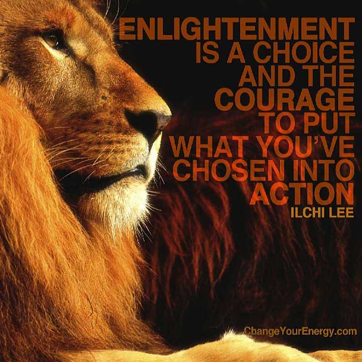 Enlightenment and courage