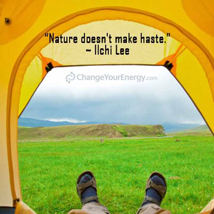 Nature doesn't make haste