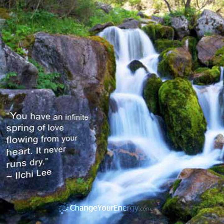Love flowing your heart
